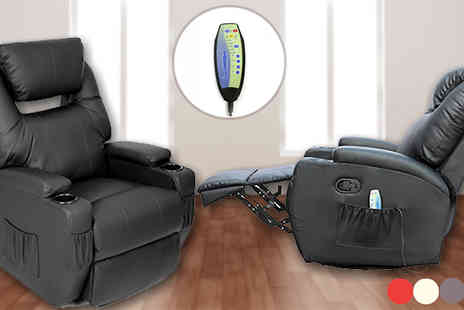 Sonic Online - 9 in 1 Massage Leather Recliner Chair - Save 62%