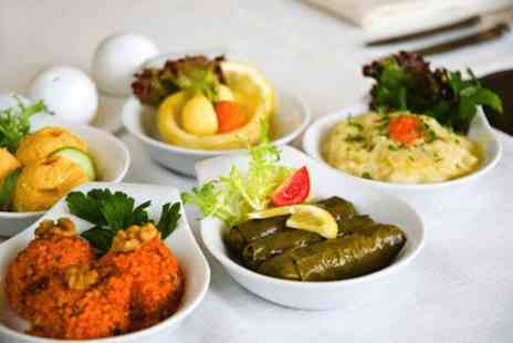 Turkish Kitchen - Six course hot & cold Meze meal for 2 with Turkish bread & a soft drink - Save 58%