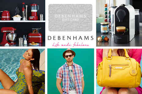 debenhams -  Debenhams e Giftcard  - Save 50%