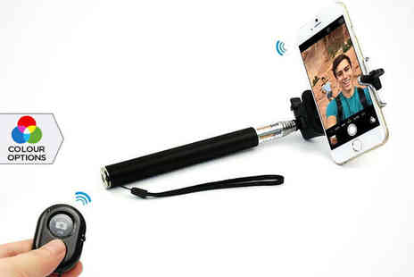 Saproducts  - Extendable Bluetooth Selfie Stick - Save 77%