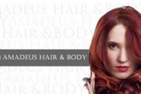 Amadeus Hair & Body - Half Head Highlights or Full Head Colour With Wash, Cut and Blow Dry - Save 73%