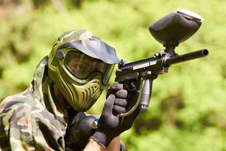 Force 10 Paintball - Paintballing day for Five including 100 paintballs each  - Save 80%