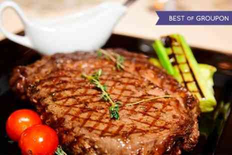 The Green Tree - Rib Eye Steak and Wine For Two - Save 50%