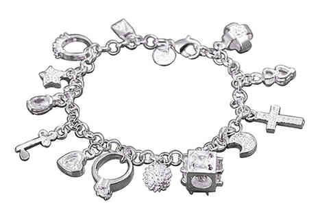 Chainz Jewellery - Sterling Silver Plated Charm Bracelet - Save 0%