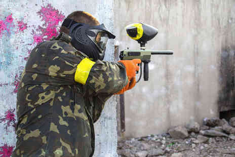 Skirmish Paintball Games - Full Day of Paintballing with 100 Paintballs Each for Two - Save 86%