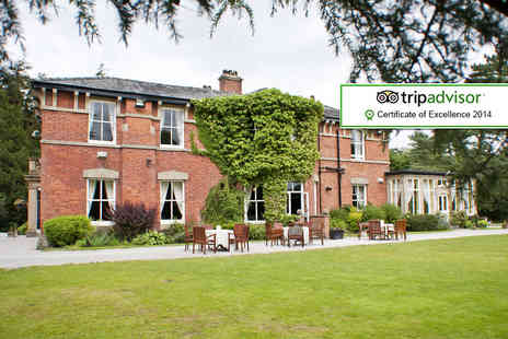 Bartle Hall Country Hotel - One night stay for 2 including Prosecco, Two course dinner, late checkout & breakfast - Save 41%