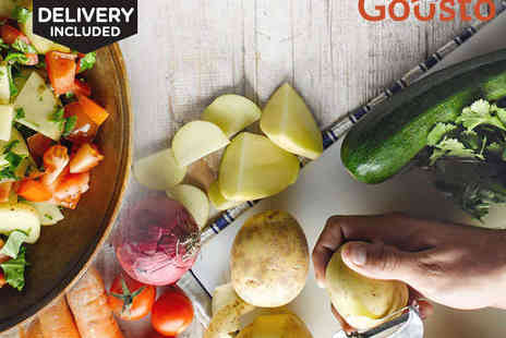 Recipe Kits Delivered Right to Your Door - Gousto Recipe and Ingredient Box for Two or Vegetarian Recipe and Ingredient Box for Two  - Save 53%