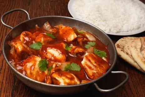 Balti King - Two Course Indian Meal with Rice or Naan For Two - Save 57%