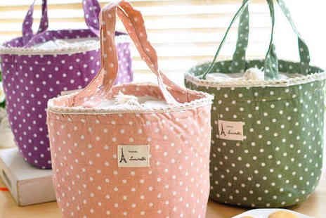 Mooch - Insulated Lunch Bag in Polka Dot - Save 60%