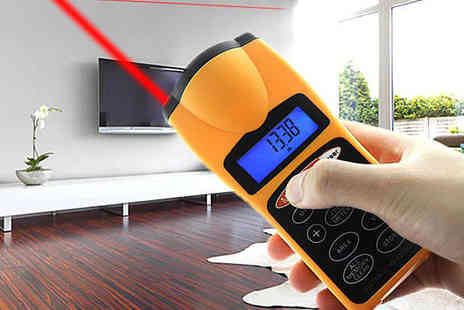 Shopperheads  - Ultrasonic Distance Measurer with Laser Pointer - Save 80%