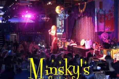 Minskys Showbar - Pitcher of cocktail plus entry for two - Save 0%
