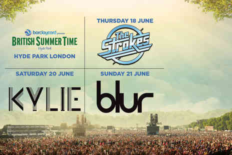 AEG Live - Two day British Summer Time ticket to see The Strokes and Kylie or see Kylie and Blur or Blur and The Strokes  - Save 29%