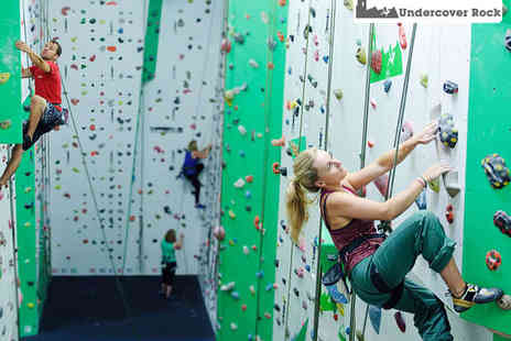 Undercover Rock - 90 Minute Indoor Rock Climbing Session for One - Save 53%