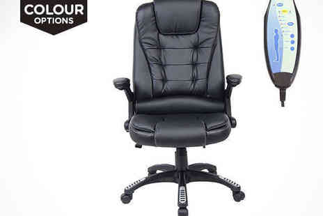 Sonic Online - Rio Massaging Office Chair in a Choice of Colour - Save 51%