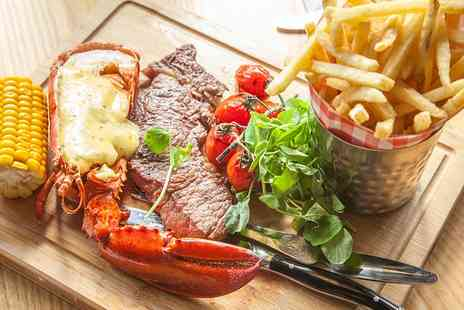 28 West Bar & Grill - Steak and Lobster For Two - Save 50%