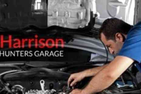 G Harrison Foxhunters Garage - MOT and 28 Point Service With Fluid Top Up - Save 72%