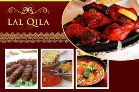 Lal Qila - Indian Fare for Two Including Starter, Main, Rice or Naan, and Glass of Wine - Save 96%