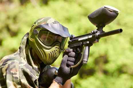 Mayhem South East - Paintball day for up to 5 people including lunch and 100 paintballs each - Save 80%