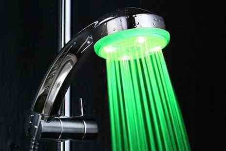 eGlobal Shoppers - LED colour changing shower head - Save 64%