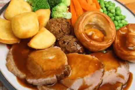 Hole in the Wall Cafe  - Sunday roast dinner with wine for two  - Save 0%