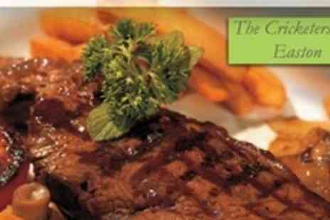 The Cricketers Inn - 8oz Rump Steak Dinner For One With Wine or Beer - Save 50%