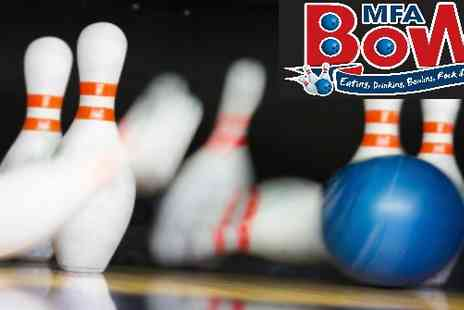 MFA Bowl Blackpool - Two games of bowling with chips and a drink - Save 62%