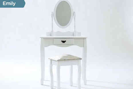 Sonic Online - White Dressing Table in a Choice of Design - Save 55%