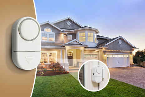 Aven Republic - Set of 4 mini window wireless security alarms  - Save 66%
