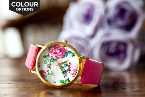 Elleandbe - Floral Watch in a Choice of Colour - Save 0%