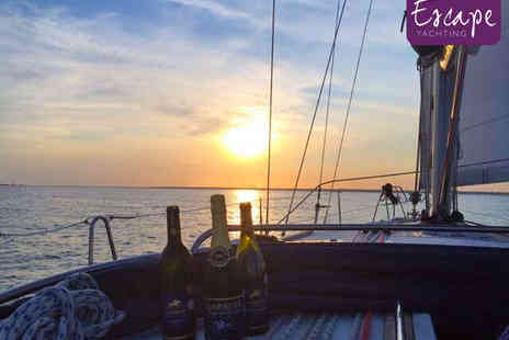 Escape Yachting - Solent Sailing Trip with Two Course Lunch or Dinner and Glass of Bubbly for One  - Save 55%