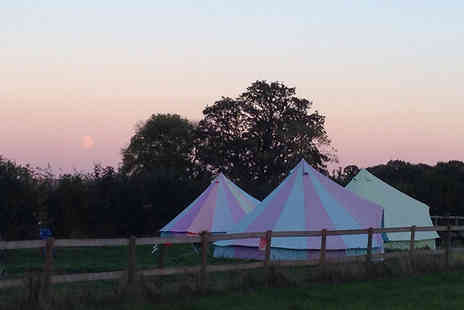 Botany Camping - Two nights luxury glamping in a bell tent for up to Five - Save 36%