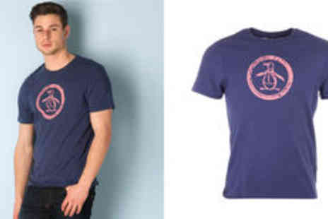 Getthelabel - Mens Original Penguin distressed circle logo T shirt  plus delivery - Save 0%