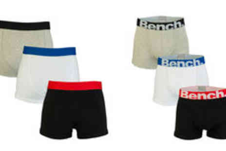 Getthelabel - Bench mens three pack boxer shorts  plus delivery - Save 0%