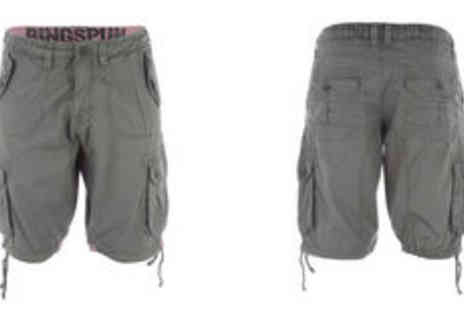 GetTheLabel.com - Men's Ringspun Devine cargo shorts  plus delivery - Save 0%
