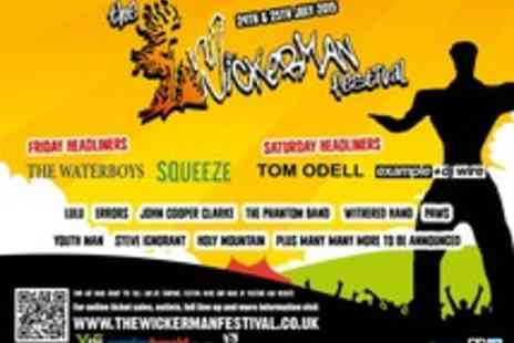 Stonegate - Tickets to the Wickerman Festival - Save 0%