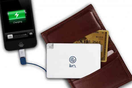 Headsgroup - Credit Card Power Bank Universal Portable Charger - Save 53%