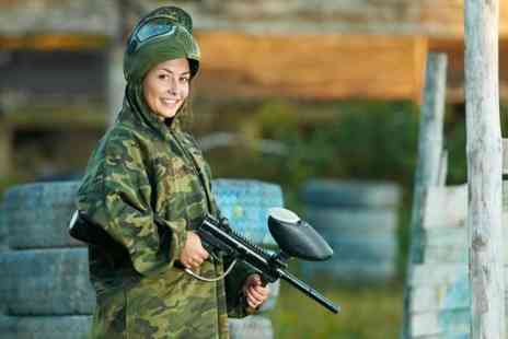 Unreal Paintball - Paintballing day for 5 including lunch and 200 paintballs each  - Save 96%