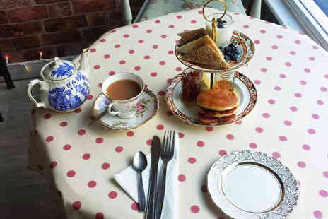 The Vintage Powder Room & Tea Shop - Cream tea or tea and cake for 2 including a mini manicure each  - Save 50%