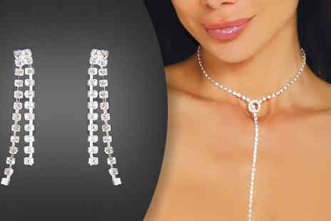 Crazee Trend - Strand Necklace and Double Strand Earrings - Save 80%
