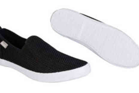 GetTheLabel.com - Mens Bench mesh slip on pumps in black  plus delivery - Save 0%