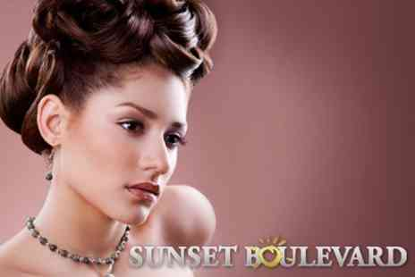 Sunset Boulevard - Full Glamour Make over, Make Up and Professional Blow Dry for £18 - Save 67%