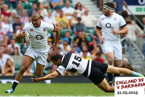 Rugby Football Union - Adult Ticket to England XV v Barbarians - Save 54%