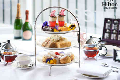 Hilton Basingstoke - Afternoon Tea with a Glass of Prosecco or Strawberry Cooler Each for Two - Save 50%