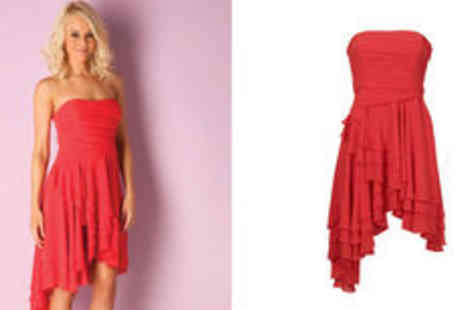 GetTheLabel.com - Lipsy womens bandeau dip hem dress  plus delivery - Save 0%