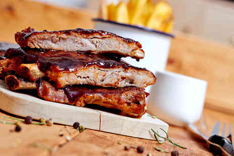 Putney Fire Bar & Grill - BBQ ribs meal for two including a beer each   - Save 51%