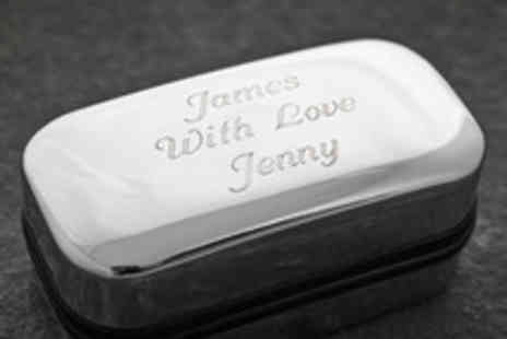 Getting Personal - Personalised Engraved Cufflinks Box - Save 47%