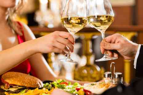 G Town Lounge - Two course lunch for two with wine  - Save 0%