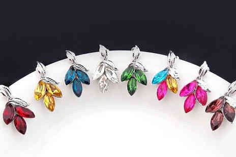 Crazee Trend - Crystal Tiger Lily Earrings - Save 89%