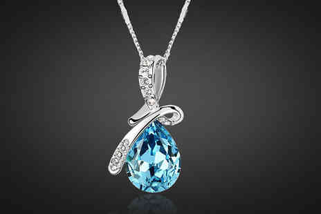 Finishing touch - Tear Drop Pendant Necklace - Save 0%
