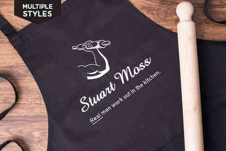 Getting Personal  - Personalised Apron for Dad for Choice of Design - Save 33%